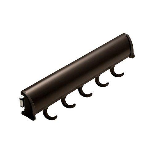 "Hafele Elite Belt Rack Dark Oil Rubbed Bronze 11-7/8"" L - 5 Hook 807.67.111"