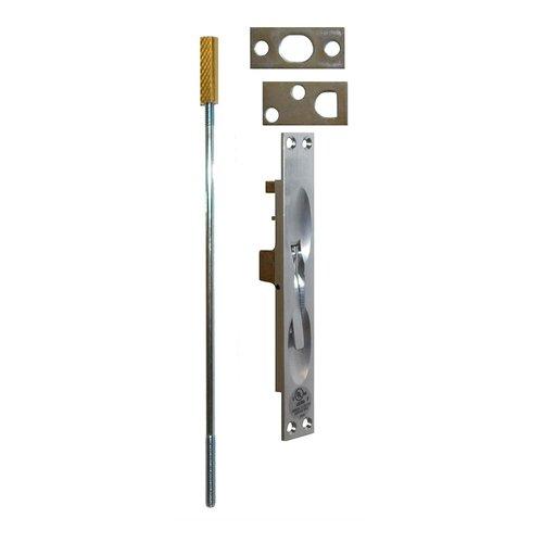 Don-Jo UL Rated Flush Bolt For Metal Doors Satin Chrome 1555-626