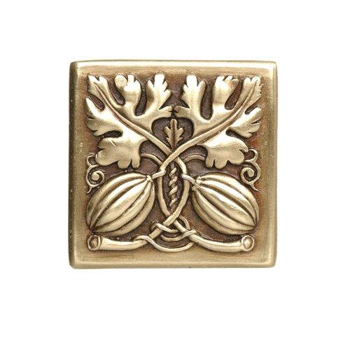 Notting Hill Kitchen Garden 1-1/2 Inch Diameter Antique Brass Cabinet Knob NHK-251-AB