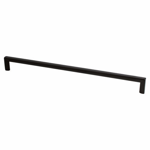 Berenson Metro 12-5/8 Inch Center to Center Matte Black Cabinet Pull 9859-1055-P