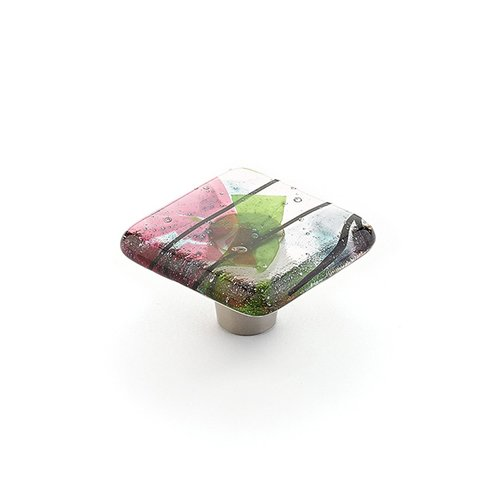 Schaub and Company Ice 1-1/2 Inch Diameter Turquoise Confetti Cabinet Knob 34-COT