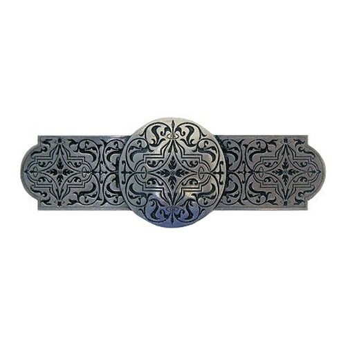 Notting Hill Olde World 3 Inch Center to Center Brilliant Pewter Cabinet Pull NHP-673-BP