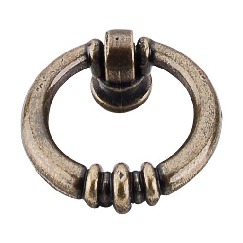 Top Knobs Tuscany 1-5/8 Inch Length German Bronze Cabinet Ring Pull M175