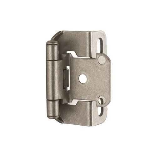 "Amerock Partial Wrap 1/2"" Overlay Hinge Weathered Nickel - Per Pair BPBP7550WN"