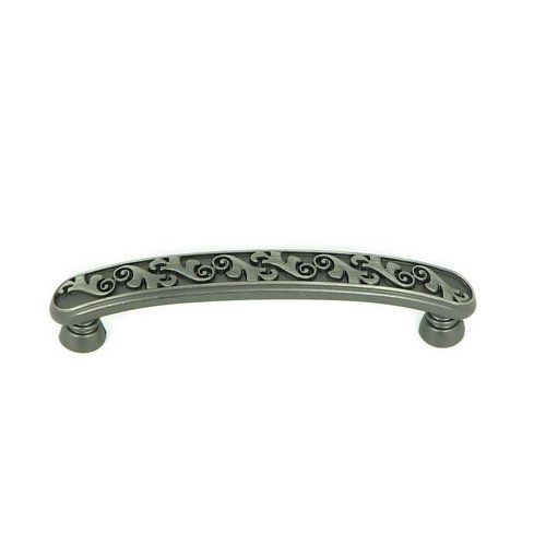 Stone Mill Hardware Meadow Brook 3-3/4 Inch Center to Center Weathered Nickel Cabinet Pull CP81098-WEN
