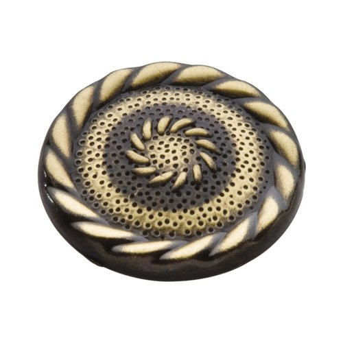 Cavalier 1-1/2 Inch Diameter Antique Brass Cabinet Knob <small>(#P122-AB)</small>