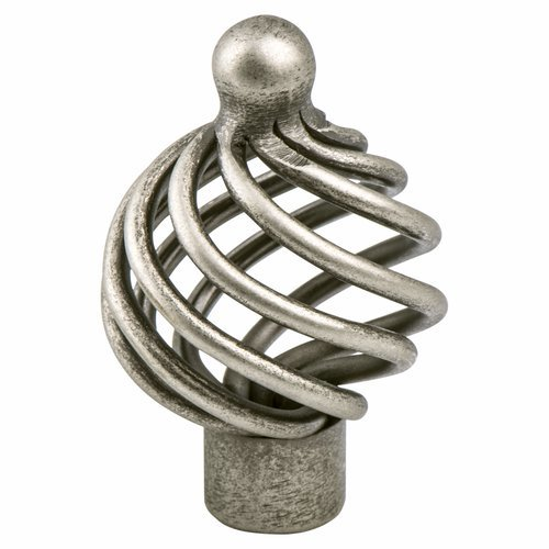 Berenson Provence 1-3/8 Inch Diameter Pewter French Iron Cabinet Knob 9964-2AP-P