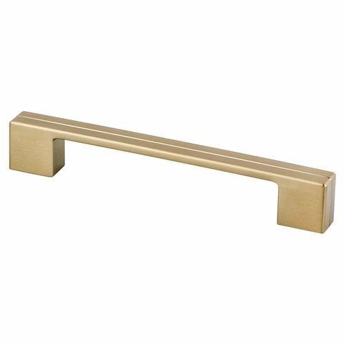 Berenson Skyline 6-5/16 Inch Center to Center Modern Bronze Cabinet Pull 9977-1MDB-P