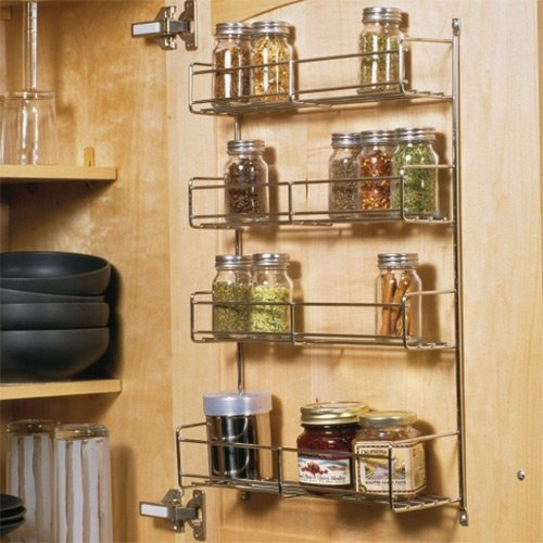 Knape and Vogt Spice Rack 7-3/4 inch W- White SR12-1-W