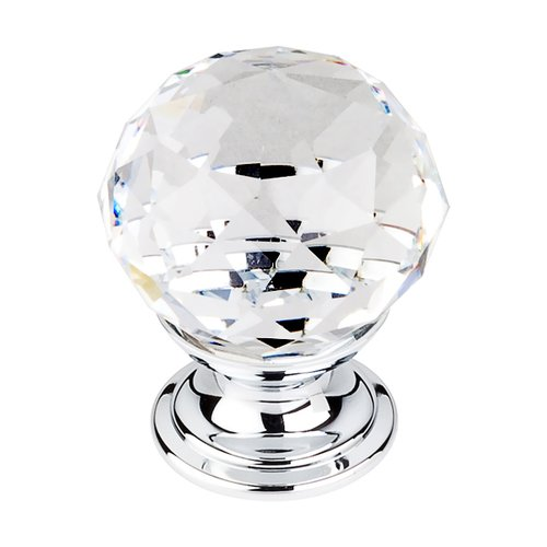 Top Knobs Crystal 1-1/8 Inch Diameter Clear Crystal Cabinet Knob TK125PC