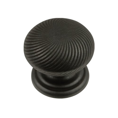 """Hickory Hardware Carbonite Knob 1-1/4"""" Dia Black Iron P3609-BI"""