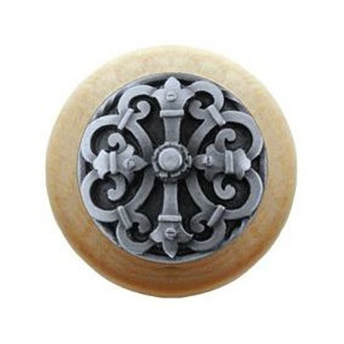 Notting Hill Olde World 1-1/2 Inch Diameter Antique Pewter Cabinet Knob NHW-776N-AP