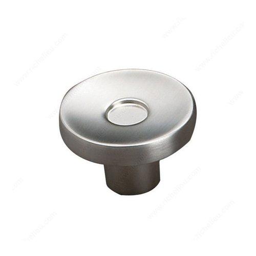 Richelieu Geometric 2 Inch Diameter Brushed Nickel Cabinet Knob 61643450195