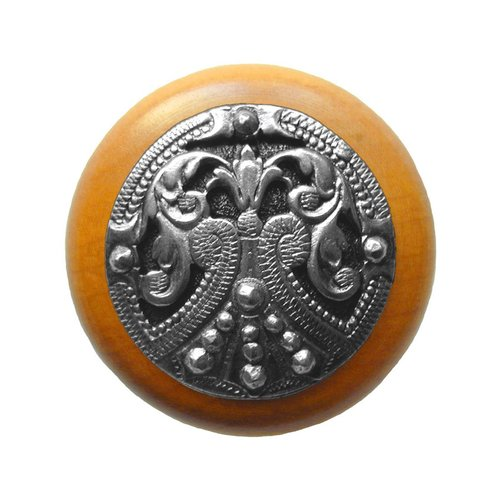 Notting Hill Olde Worlde 1-1/2 Inch Diameter Brilliant Pewter Cabinet Knob NHW-701M-BP