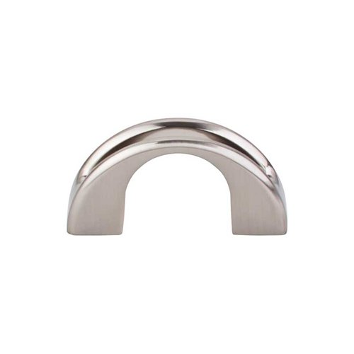 Top Knobs Mercer 1-1/4 Inch Center to Center Brushed Satin Nickel Cabinet Pull TK617BSN