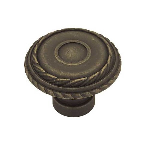 Liberty Hardware Rustique 1-7/16 Inch Diameter Distressed Oil Rubbed Bronze Cabinet Knob PN1340-OB-C
