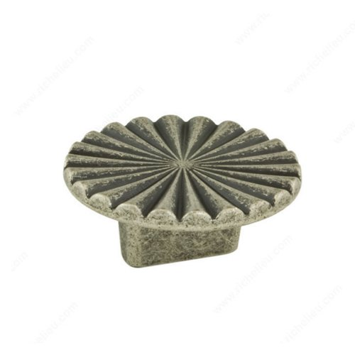 Richelieu Art Deco 5/8 Inch Center to Center Faux Iron Cabinet Pull 157050904
