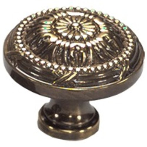 Schaub and Company Versailles Forged Solid Brass 1-1/2 Inch Diameter Antique Light Polish Cabinet Knob 752-ALP