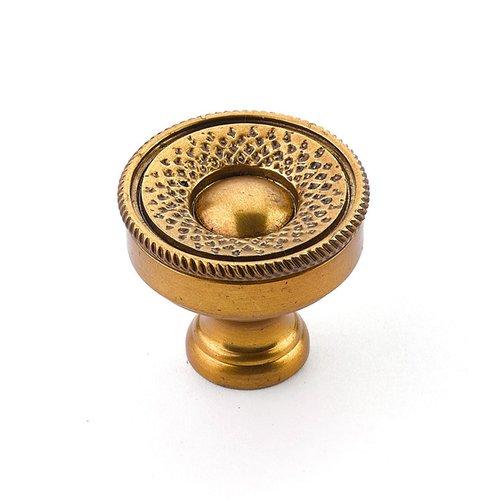 Schaub and Company Sonata 1-1/4 Inch Diameter Paris Brass Cabinet Knob 927-PAR