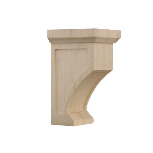 Brown Wood Petite Shaker Corbel Unfinished Hard Maple 01606005HM1