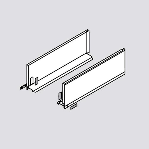 "Legrabox C 22"" Drawer Profile Left/Right Stainless Steel <small>(#770C5502I)</small>"