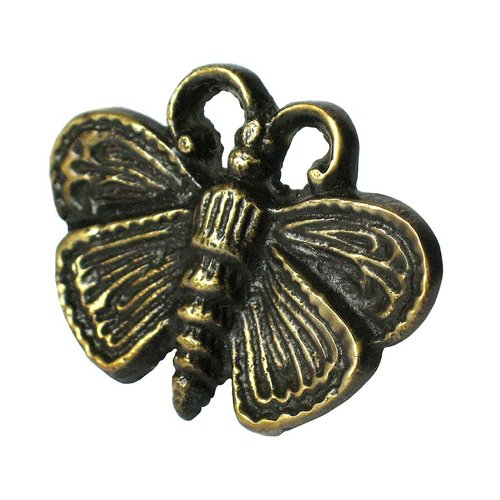 "Moth Motif Clavo 1-5/8"" Dia - Antique Brass <small>(#HCL1160)</small>"