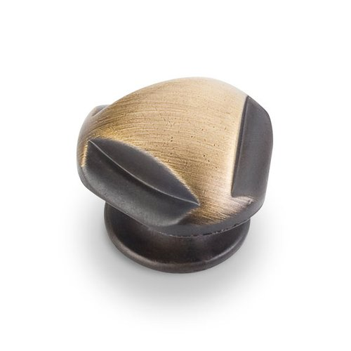 Jeffrey Alexander Chesapeake 1-5/16 Inch Diameter Antique Brushed Satin Brass Cabinet Knob 915ABSB
