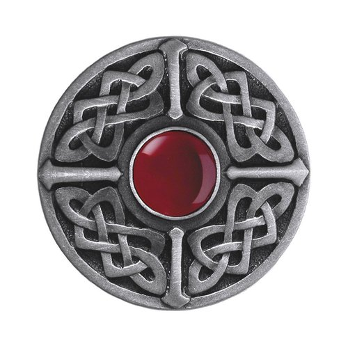 Notting Hill Jewel 1-3/8 Inch Diameter Antique Pewter Cabinet Knob NHK-158-AP-RC