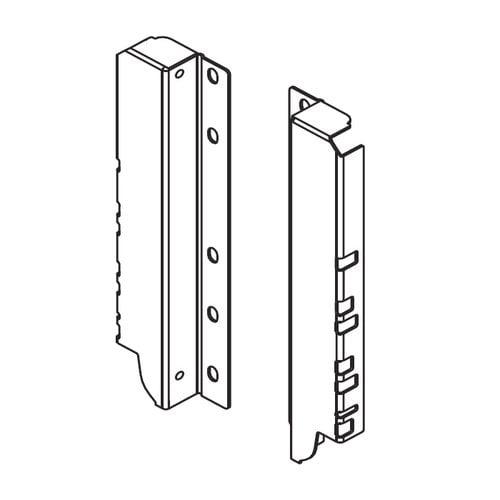 """Blum TandemBox Rear Fixing Bracket L/R """"D inch Nickel Z30D000SL-N"""