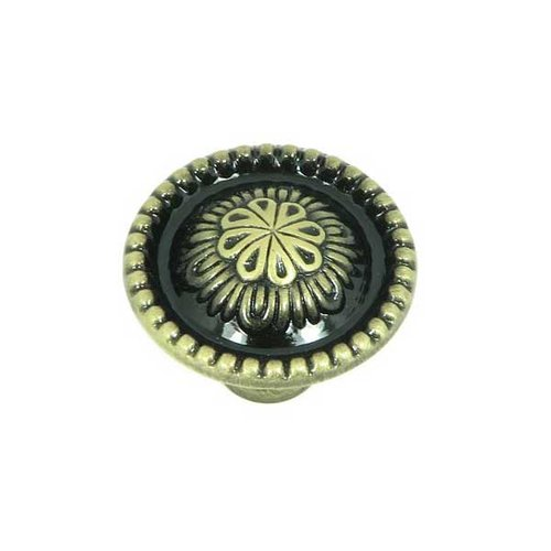 Stone Mill Hardware Cornell 1-1/4 Inch Diameter Brushed Antique Brass Cabinet Knob CP03403-ABR
