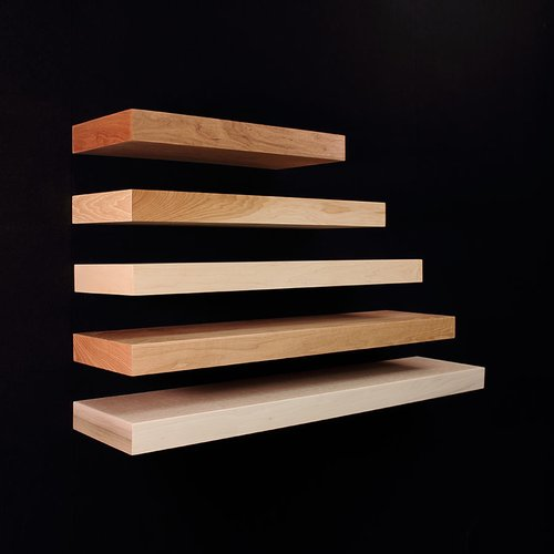 36 inch Long Floating Shelf Unfinished Red Oak <small>(#FS0136OUF1)</small>
