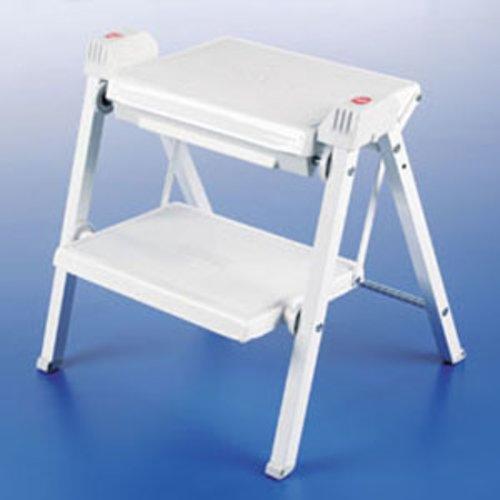 Hafele Stepfix Folding Stepstool White/Grey 505.04.704