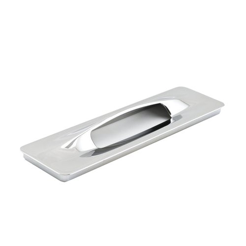 Richelieu Surface Mount 7-1/16 Inch Center to Center Chrome Cabinet Pull 9145199140