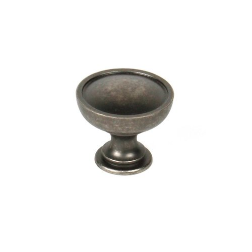 Caledonia 1-3/8 Inch Diameter Regent Silver Cabinet Knob <small>(#29427-RS)</small>