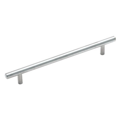 Amerock Bar Pulls 7-9/16 Inch Center to Center Sterling Nickel Cabinet Pull BP19012CSG9