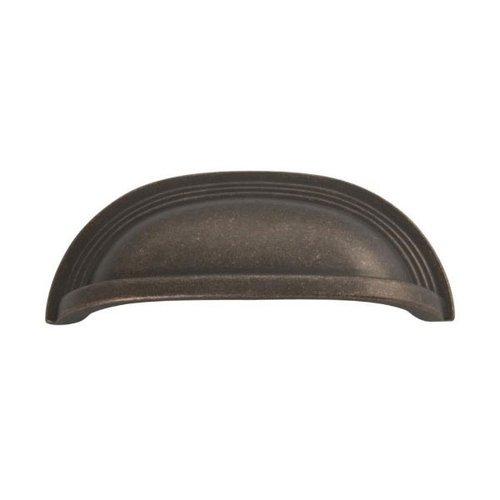 Hickory Hardware Deco 3-3/4 Inch Center to Center Dark Antique Copper Cabinet Cup Pull P3104-DAC