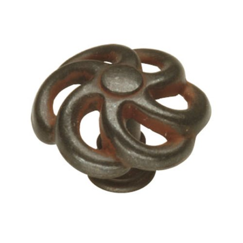 Charleston Blacksmith 1-1/2 Inch Diameter Rustic Iron Cabinet Knob <small>(#PA1311-RI)</small>