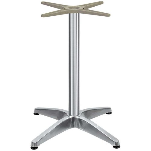 Peter Meier 26 inch x 26 inch Four Leg Table Base - Polished Aluminum 42-1/2 inch H 2226-43-AL
