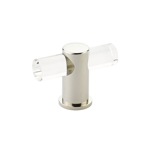 "Schaub and Company Lumiere Knob 2"" Dia Clear Acrylic & Polished Nickel 401-PN"