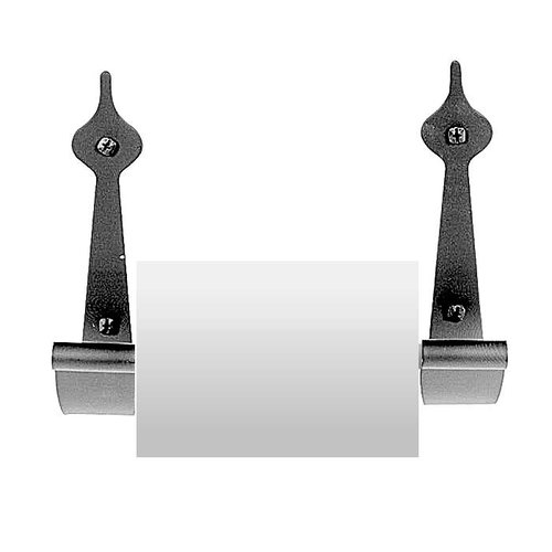 "Spear Toilet Tissue Holder 6-1/2"" Long Black Iron <small>(#AB1BP)</small>"