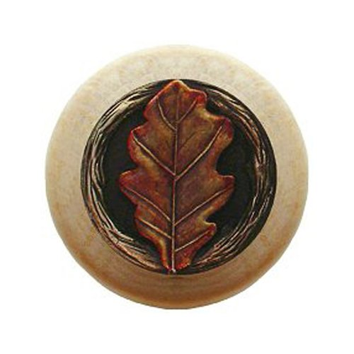 Notting Hill Leaves 1-1/2 Inch Diameter Brass Hand Tinted Cabinet Knob NHW-744N-BHT