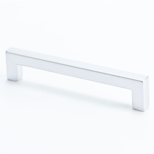Square 5-1/16 Inch Center to Center Dull Chrome Cabinet Pull <small>(#9286-10DC-C)</small>