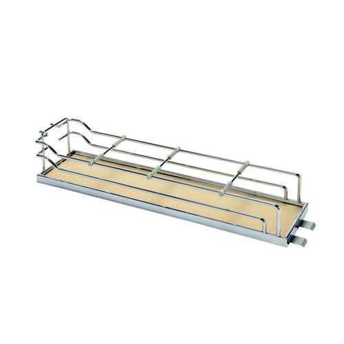 "Tray Set For Base Pullout 4"" Wide Chrome & Maple <small>(#546.63.178)</small>"