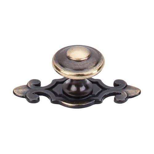 Top Knobs Britannia 1-1/4 Inch Diameter Dark Antique Brass Cabinet Knob M28