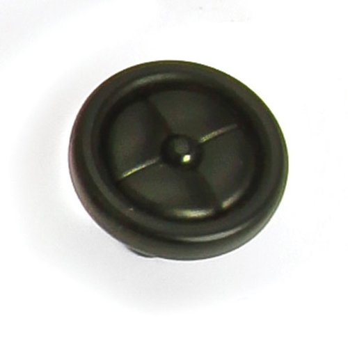 Laurey Hardware Paris 1-1/4 Inch Diameter Matte Black Cabinet Knob 39620