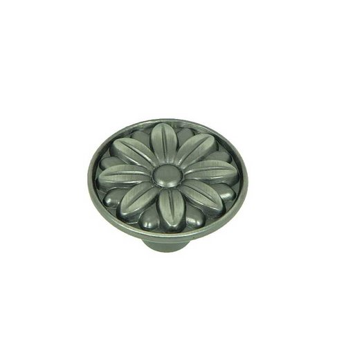 Stone Mill Hardware Cornell 1-1/4 Inch Diameter Weathered Nickel Cabinet Knob CP81521-WEN