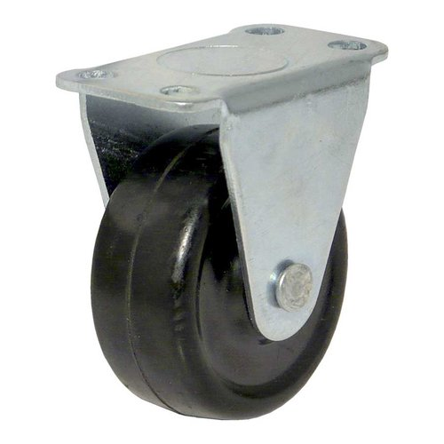 Fixed Rubber Caster - Black <small>(#F22903)</small>