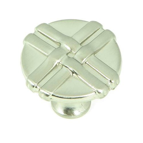 Stone Mill Hardware Sheffield 1-3/8 Inch Diameter Satin Nickel Cabinet Knob CP1492-SN