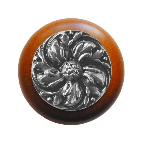 Notting Hill English Garden 1-1/2 Inch Diameter Satin Nickel Cabinet Knob NHW-714C-SN