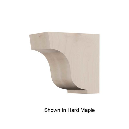 Brown Wood Small Simplicity Corbel Unfinished Alder 01607005AL1